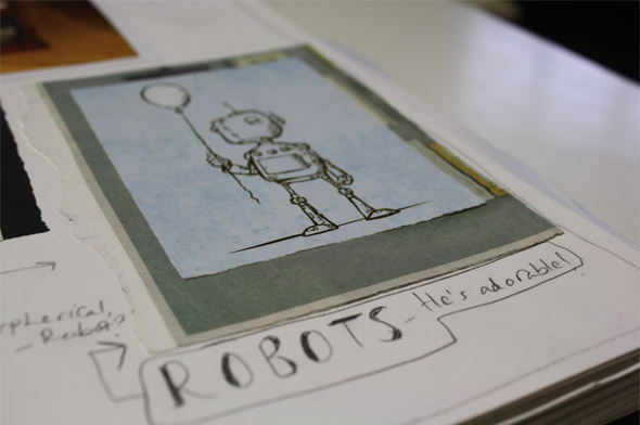 Storybarn - drawing of a robot